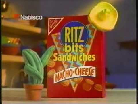 Download Ritz Bits Nacho Cheese Sandwiches ad from 1990