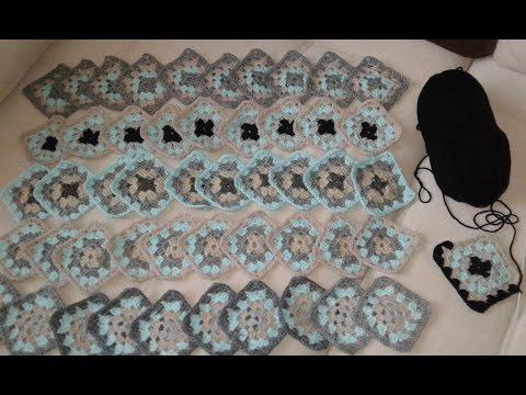 Кардиган из квадратных мотивов. Часть1. Бабушкин квадрат.  Knitting women's cardigan.