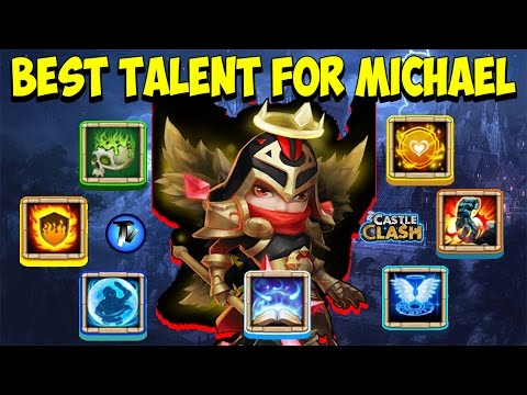 Castle Clash - Best Talent For Michael !!!