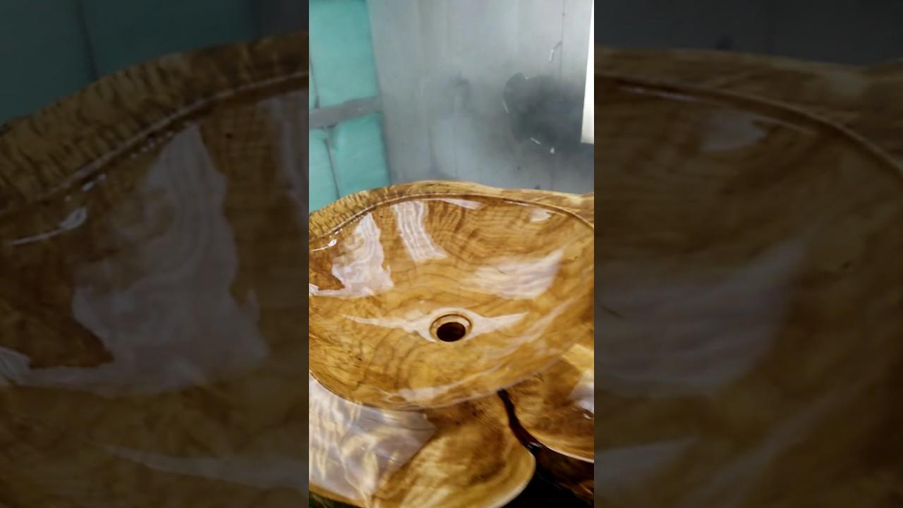 Vasque Lavabo En Bois Youtube
