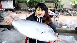 Cooking skills | Yummy cooking big fish recipe | Yummy cooking sea fish recipe  | survival skills.HT