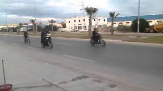 Moto Ksar HElall à Sousse Décembre 2012