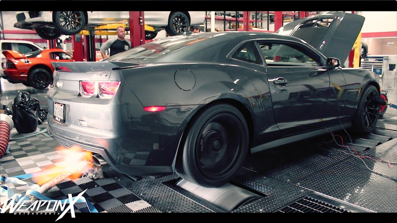 800hp Camaro Zl1 On Dyno Weapon X800 Package Youtube