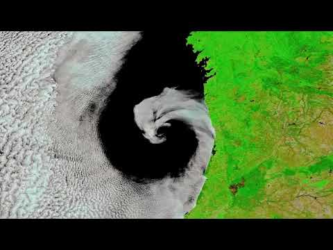 Cyclone 'Licks' Portugal Coast in Gorgeous Space Image.