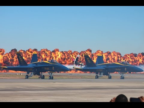 2014 Blue Angels NAS Jacksonville Air Show Stunt Flying HD