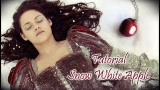 Tutorial 40 • mela di Biancaneve in fimo e cernit - hoe maak je een polymerclay Snow White Apple