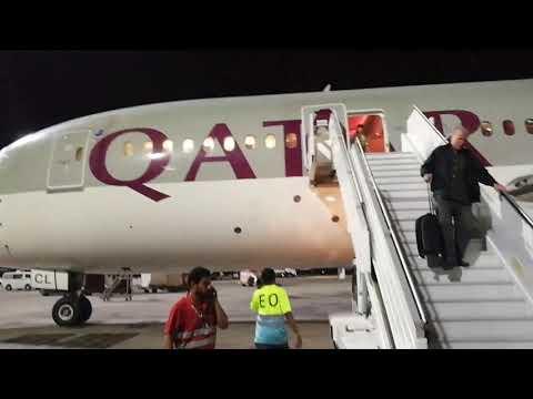 Oslo - Doha en la business class del 788 de Qatar Airways