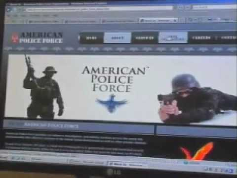 """American Police Force"", In Hardin, Montana"
