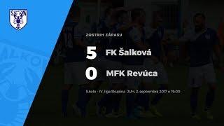 Zostrih zápasu FK Šalková - MFK Revúca, 2.9.2017 o 19:00