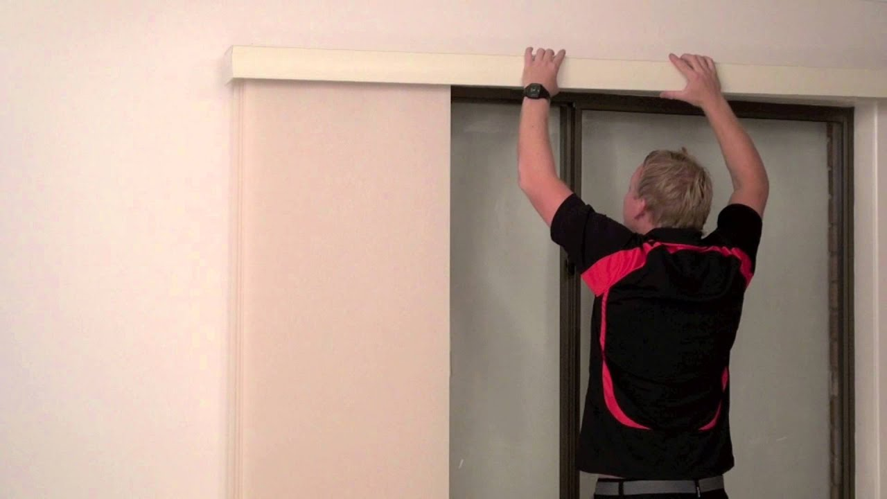 How To Install A Timber Pelmet Over Face Fit Panel Glide