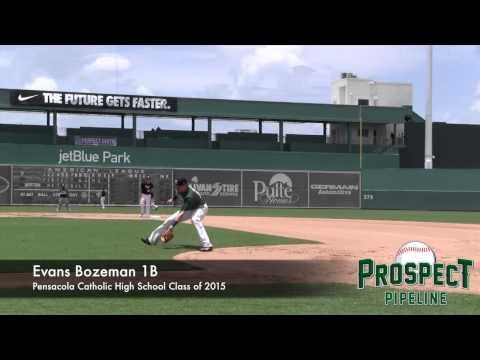 Evans Bozeman Prospect Video, 1B, Pensacola Catholic High School Class of 2015