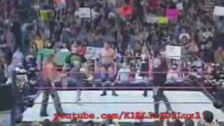 Batista Shawn Michaels Undertaker John Cena vs Randy Orton Edge Mr Kennedy MVP Part 1 3