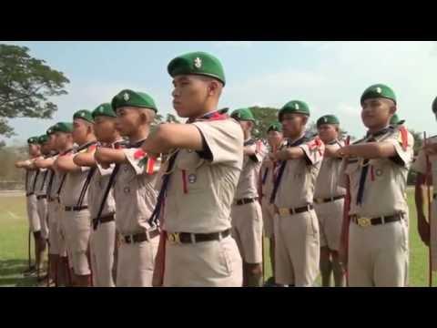 สาธิตการประกวดระเบียบแถวลูกเสือเนตรนารี 2559