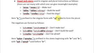 IsiXhosa Grammar Simplified. Issuing Instructions In IsiXhosa.