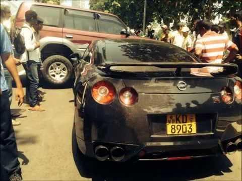 Rohitha Rajapaksa Car Accident - Nissan GTR
