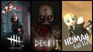 Human Fall Flat | Deceit | Dead by Daylight | YT MemberShip-  Live Stream