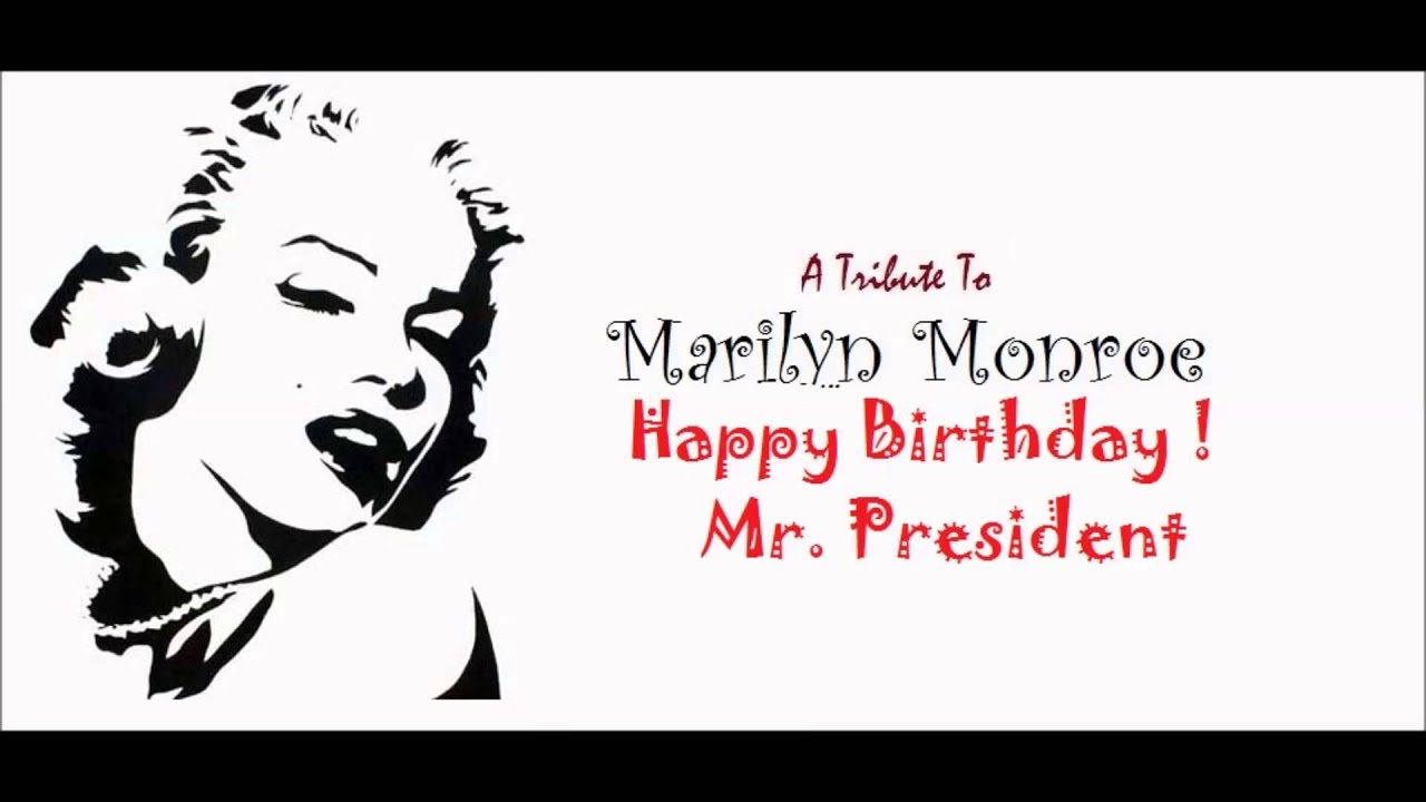 Marilyn Monroe Happy Birthday Mr President Audio Live Youtube