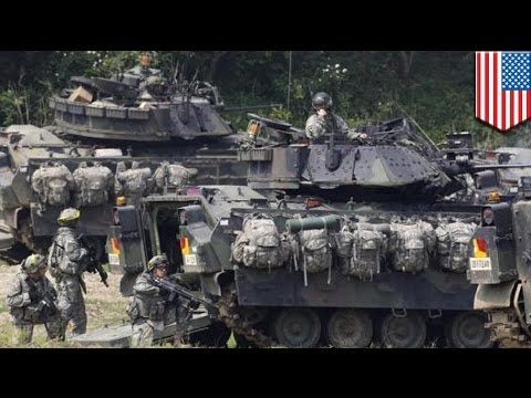 US sends more troops and tanks to South Korea