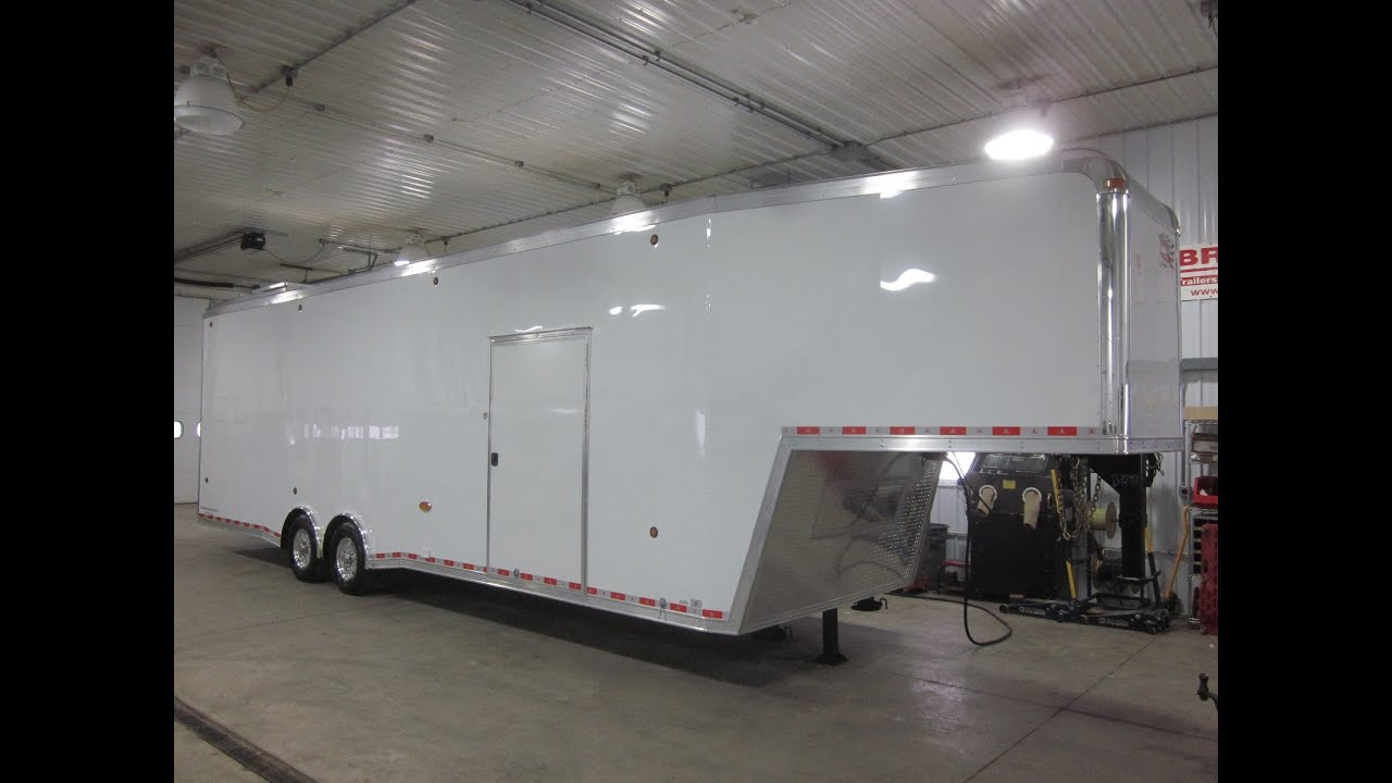 Gooseneck Enclosed Car Hauler Trailers For Sale