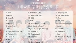 [Full Set List] BTS World Tour 'LOVE YOURSELF' 2018 (Seoul Day 1)