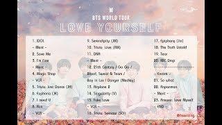 [Full Set List] BTS World Tour 'LOVE YOURSELF' 2018 (Seoul Day 1)