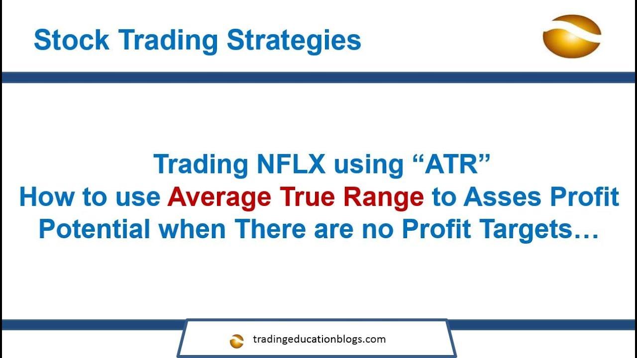 Average true range trading strategies