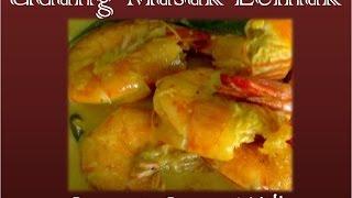 malaysian food prawns in coconut milk curry udang masak lemak