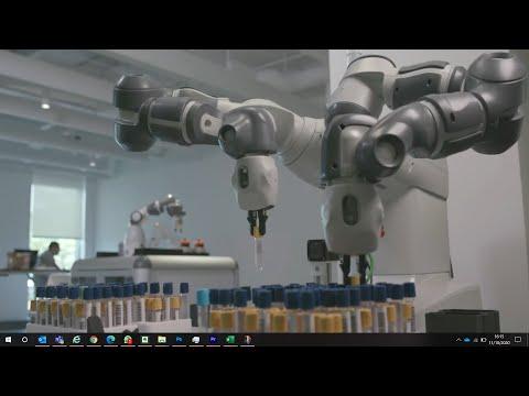 Robotdalen och ABB Robotics visar ett koncept inom labbautomation för framtidens sjukhus
