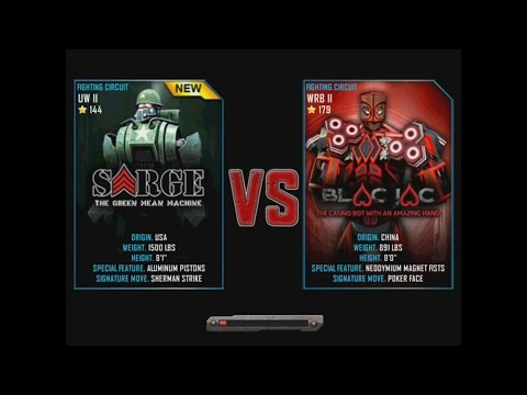 Real Steel WRB Sarge VS Blac Jac NEW ROBOT Update Halloween