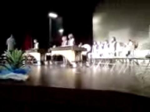 Boulder Ridge Middle School Drum Line performing at the Romoland ESL awards