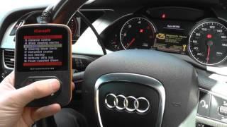 Audi A4 Airbag Light Turn Off Reset iCarsoft i908