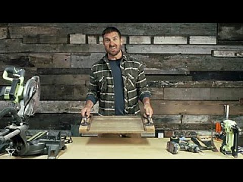 How to Make a Barnwood Serving Tray - DIY Network