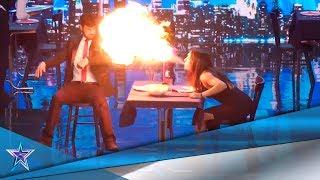 FUEGO y PUÑETAZOS: ¡una PELÍCULA de ACCIÓN en DIRECTO! | Audiciones 3 | Got Talent España 5 (2019)