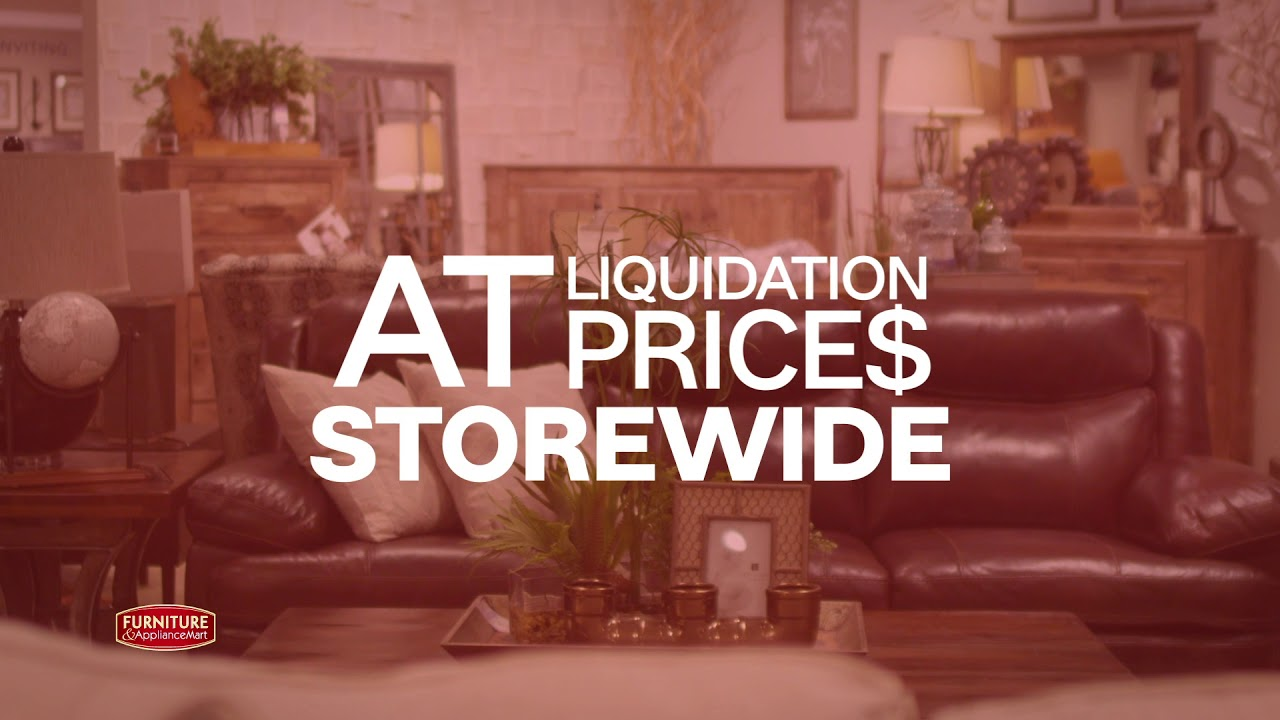 Furniture Appliancemart Warehouse Liquidation Furniture Sale Youtube