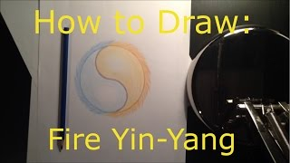 How to Draw #1: Fire Yin-Yang [Time Lapse]
