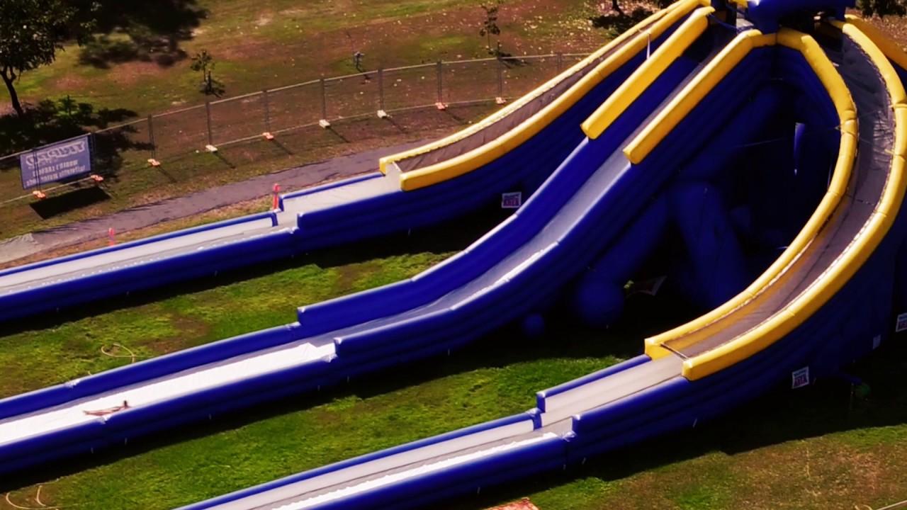 splashland the inflatable water park for kids youtube