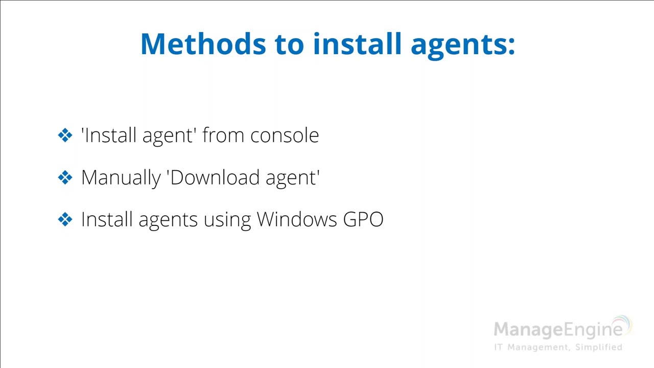Configurations, USB, Agent and Server Mgmt Training
