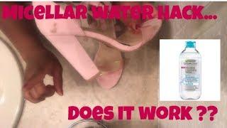 Micellar Water As DIY Shoe Cleaner!?!?   Sam's2ndChance