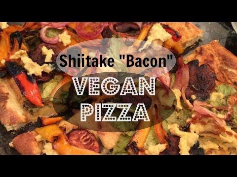 "Shiitake ""Bacon"" Vegan Pizza"