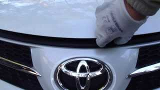How to open bonnet or hood Toyota RAV4. Years 2013 to 2019.