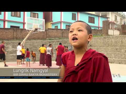 Buddhist Monks in India Take to Basketball