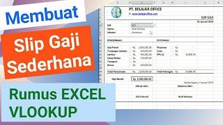 Membuat Slip Gaji Karyawan Sederhana Rumus Excel Vlookup