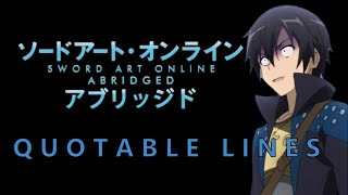 SAO Abridged Most Quotable Lines