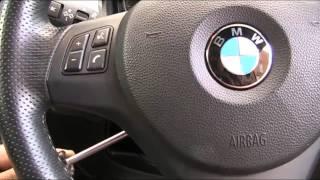 BMW M sport 3 series  & 1 series Steering wheel Airbag removal