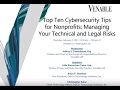 Top Ten Cybersecurity Tips for Nonprofits - February 2, 2017