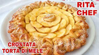 ROSE AND APPLE TART CAKE RECIPE by RITA CHEF🍎.
