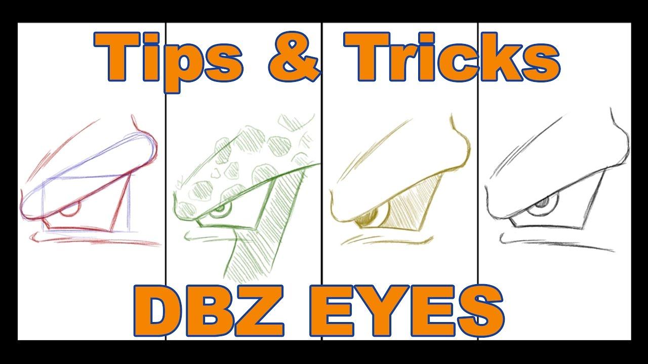 How To Draw Dragon Ball Z Eyes Youtube