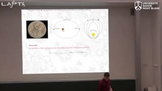 conférence sur la matière noire donnée par Mathieu Boudaud