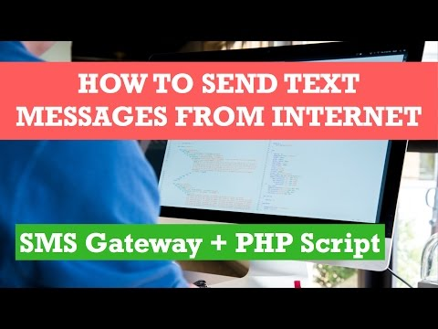 How to SEND TEXT MESSAGES from website using PHP SMS script