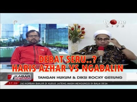 Debat TV One HARIS Azhar VS NGABALIN Tangan Hukum & Diksi Rocky Gerung